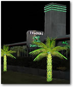 Classic Lighted Palm Trees are great in front of Hotels