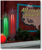 Our Lighted Cactus Trees for Restaurants